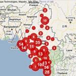 Myanmar crisis map