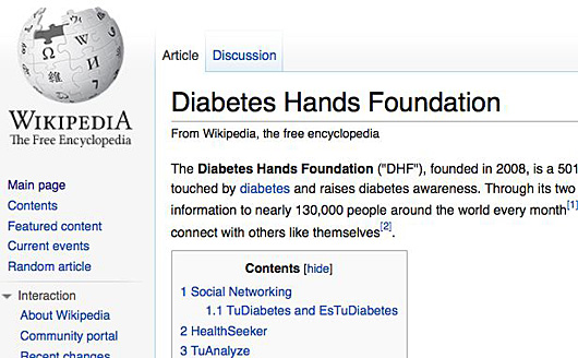 Diabetes-on-Wikipedia