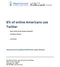 8 percent of online Americans use Twitter