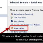 Facebook alias