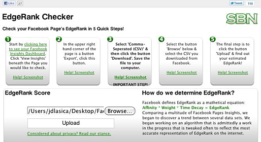 EdgeRank-Checker