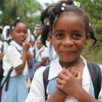 Young girl from Jacmel, Haiti