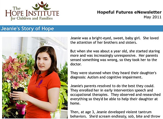 Hope-Institute-enewsletter