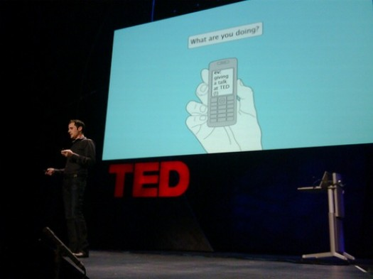 live tweeting at TED