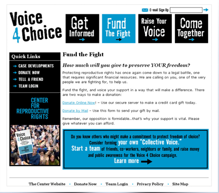 Voice4Choice microsite