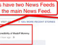 Facebooks hybrid News Feed