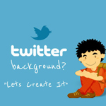 How to create a Twitter background