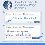 How to schedule a Facebook page update
