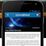 Crowdshout: Social advocacy made simple