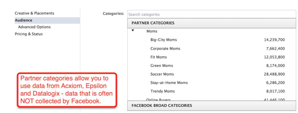 partner categories