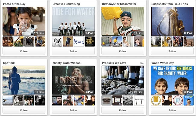 charitywater-on-pinterest