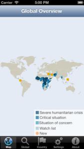 Global Energency Overview App