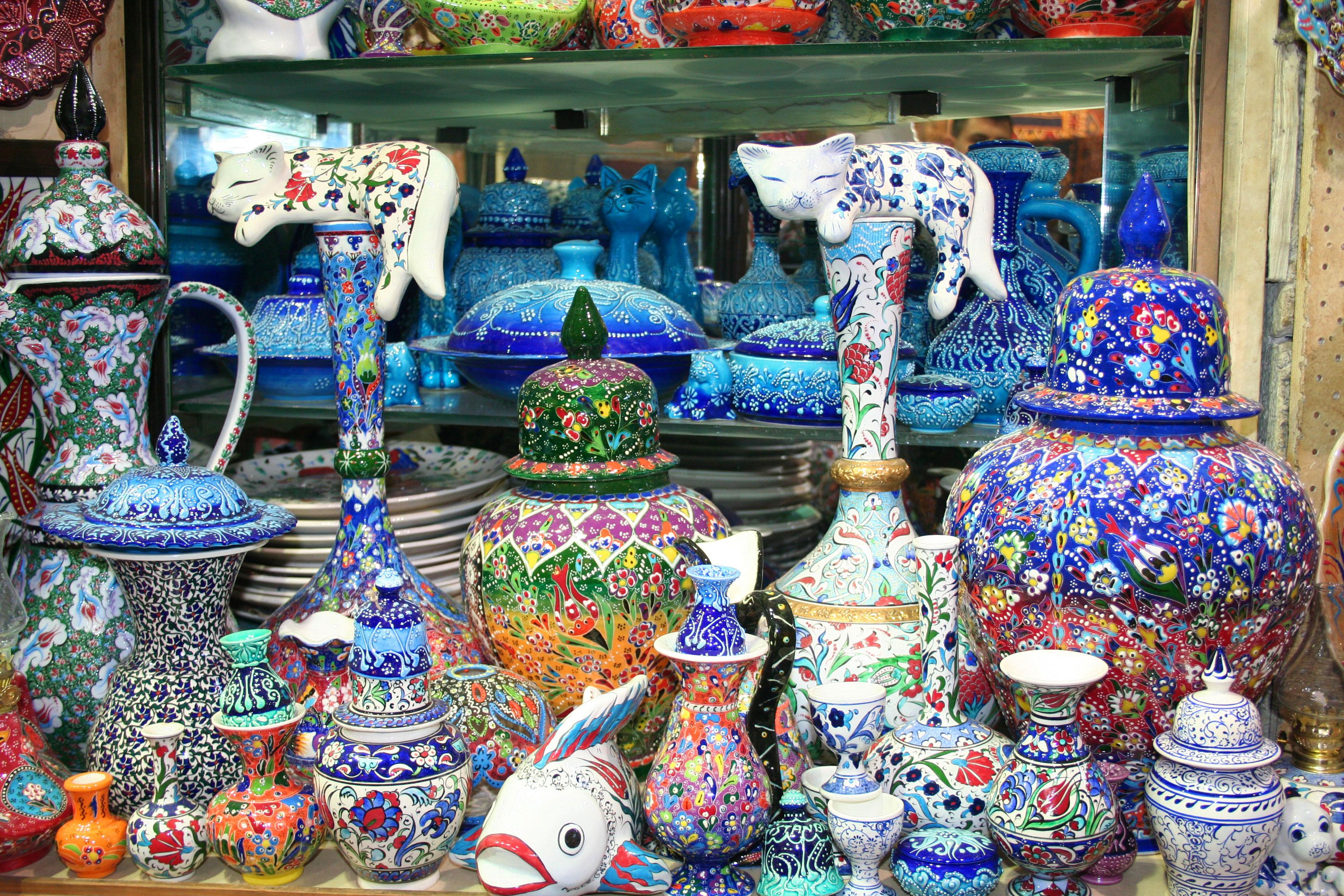 souvenirs at grand bazaar, istanbul; eladora/shutterstock