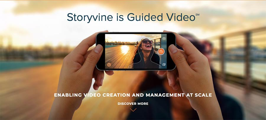 A screenshot from Storyvine, the guided video service.